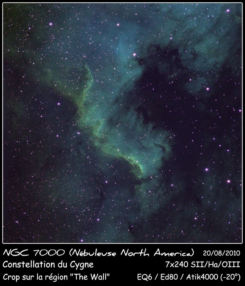 NGC7000 The Wall SHO Ngc70014