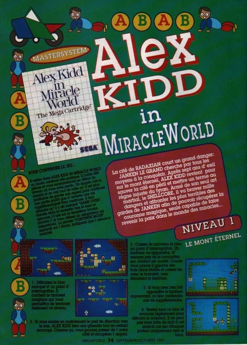 ALEX KIDD in miracle world - la soluce intégrale de 1991 07410
