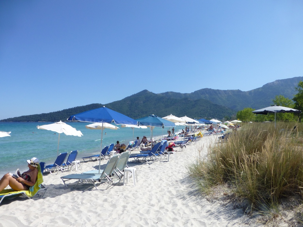 Greece, Island of Thassos, Golden Bay, 2013 05810