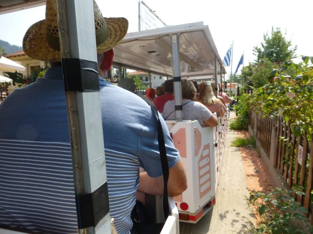Greece, the Island of Thassos, Golden Beach, MiniTrain trip 55610