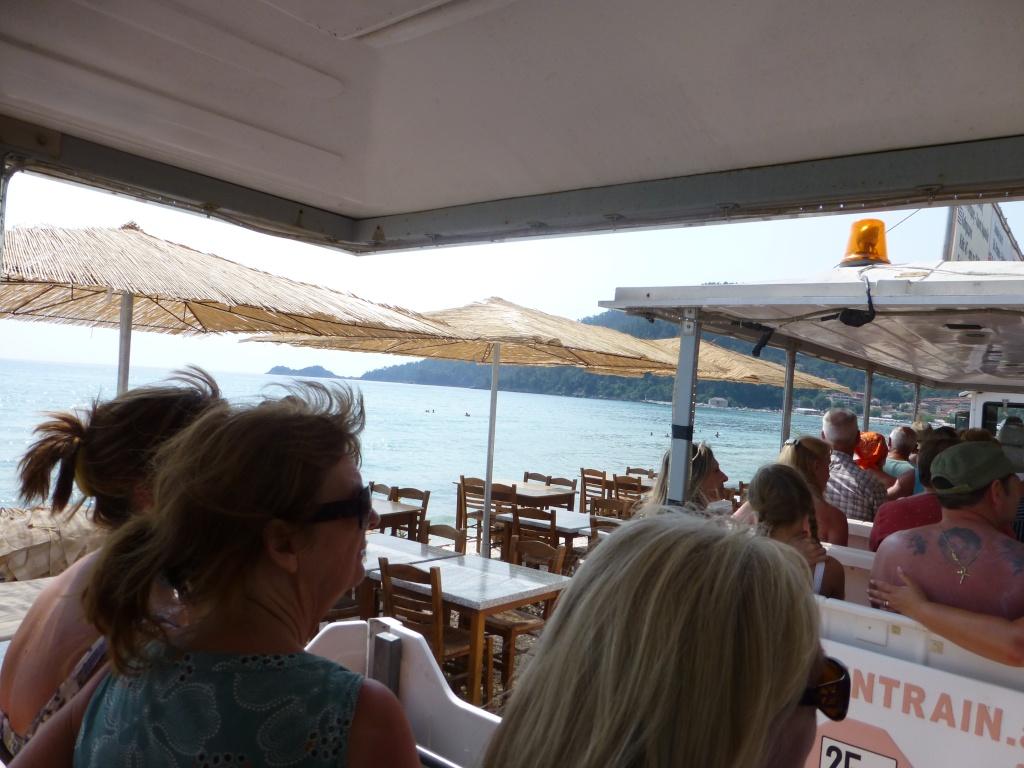 Greece, the Island of Thassos, Golden Beach, MiniTrain trip 55710