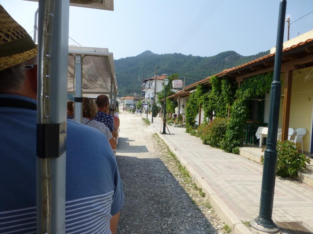 Greece, the Island of Thassos, Golden Beach, MiniTrain trip 55810