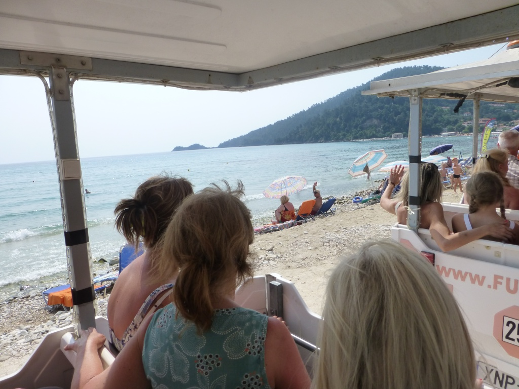 Greece, the Island of Thassos, Golden Beach, MiniTrain trip 55910