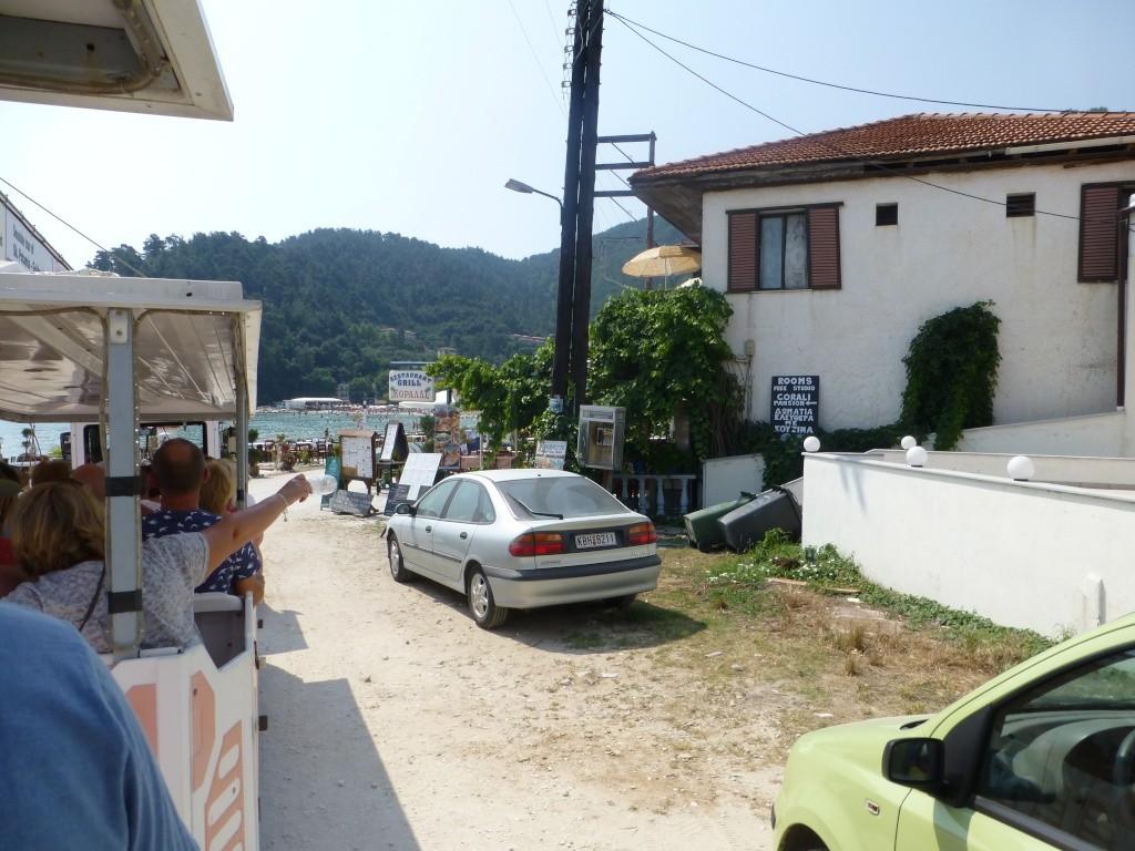 Greece, the Island of Thassos, Golden Beach, MiniTrain trip 56110
