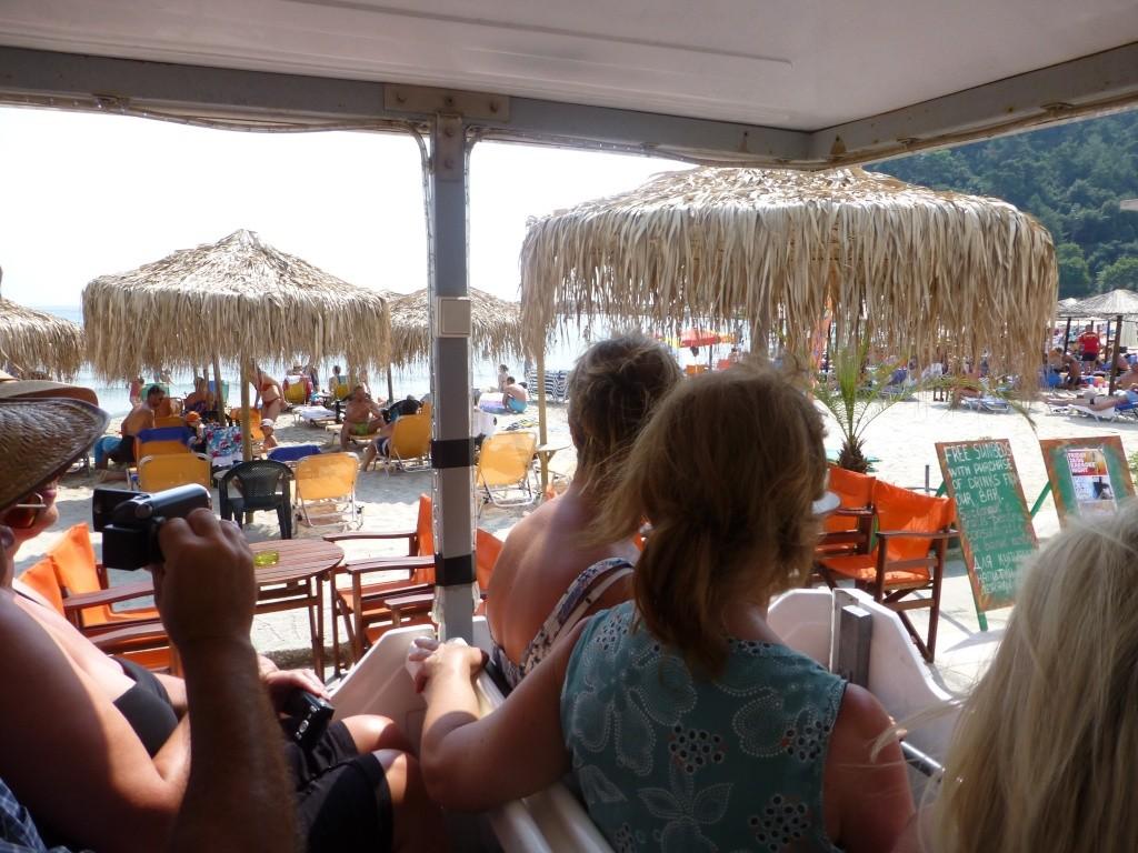 Greece, the Island of Thassos, Golden Beach, MiniTrain trip 56210