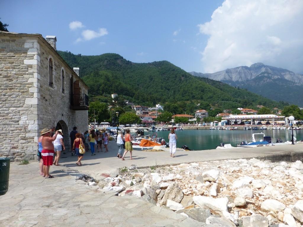 Greece, the Island of Thassos, Golden Beach, MiniTrain trip 56410