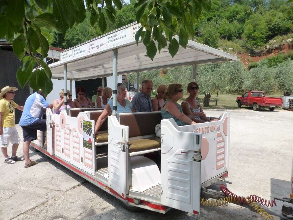 Greece, the Island of Thassos, Golden Beach, MiniTrain trip 57210