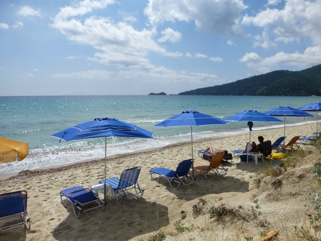 Greece, the Island of Thassos, Golden Beach walk 65910
