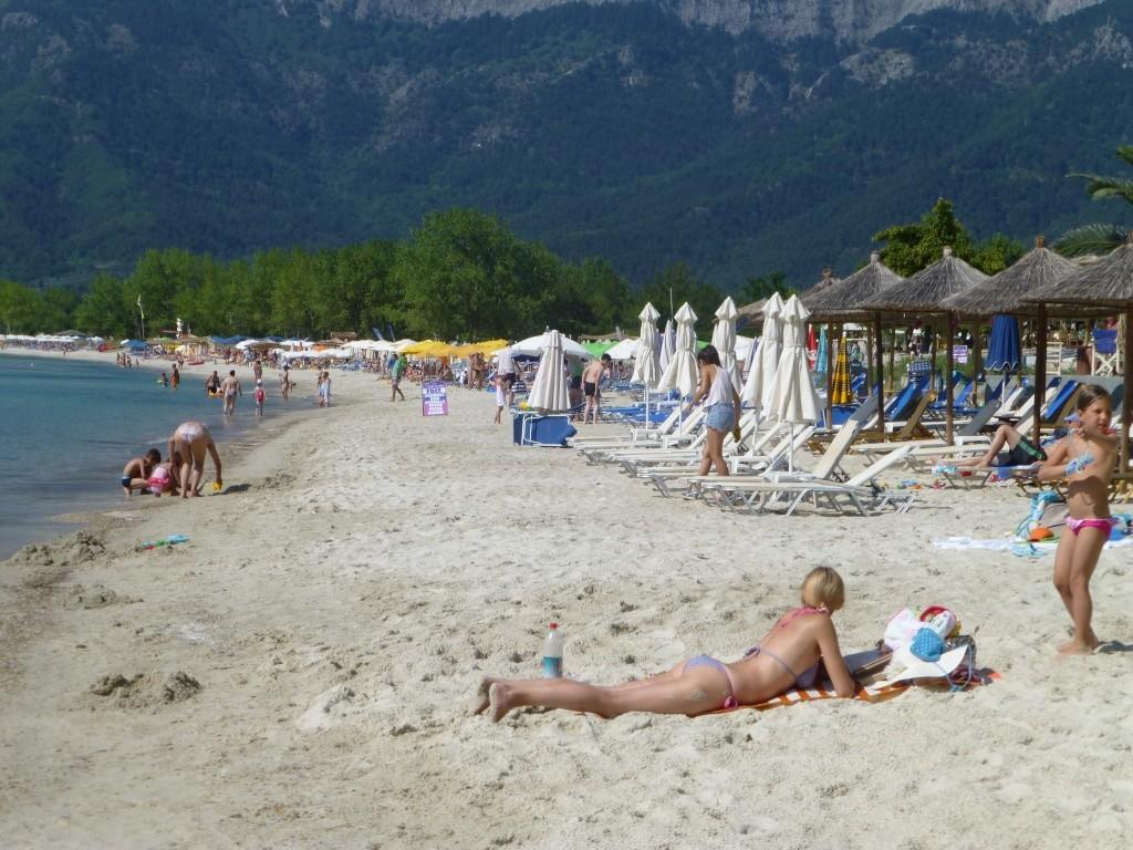 Greece, the Island of Thassos, Golden Beach walk 75710