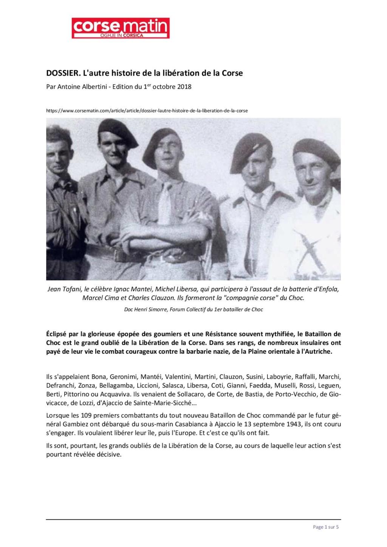 Article sur le 1et bataillon et infos JEAN TOFANI 148