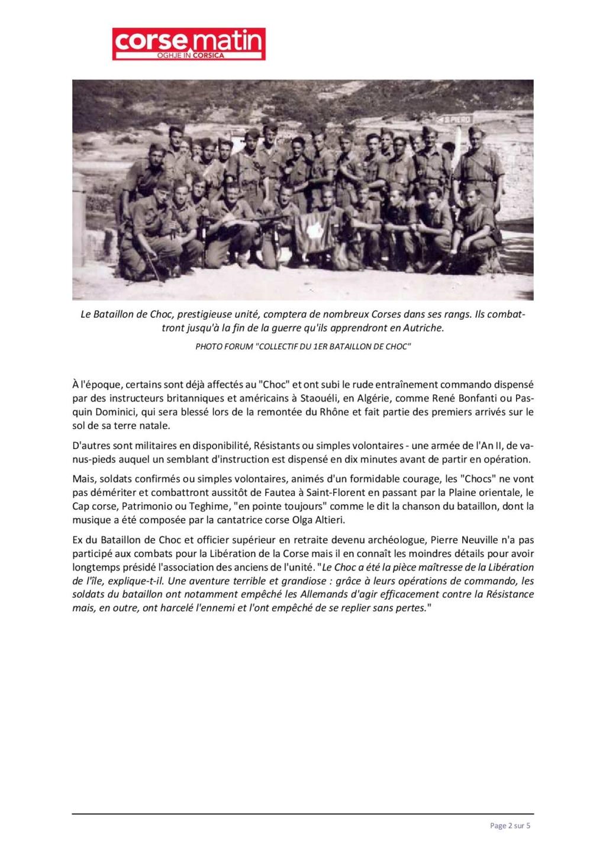 Article sur le 1et bataillon et infos JEAN TOFANI 240