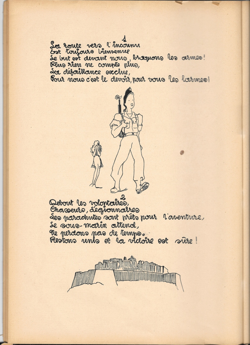 Recherche sur le bataillon de choc arrivé en Corse en 1943 , sous les ordres du commandant l'Herminier  7210