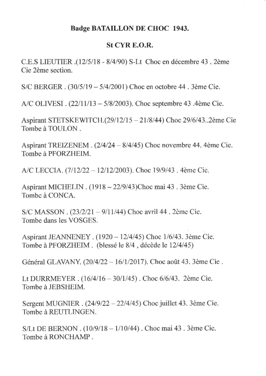 LES INSIGNES DU BATAILLON DE CHOC 1943/1963. - Page 3 Jpg17