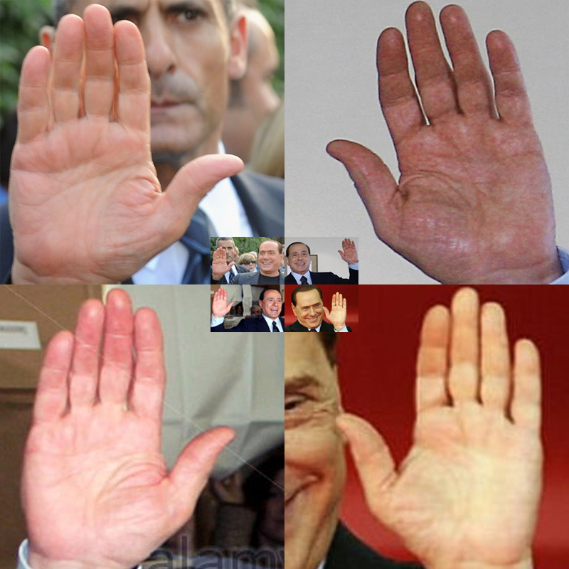 SILVIO BERLUSCONI - The hands of the Prime Minister of Italy! Silvio10