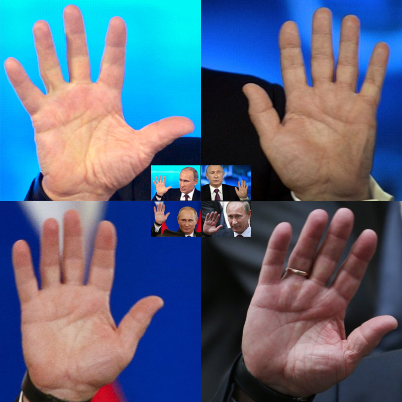Any comments on Mr. Putin's hand? Vladim10