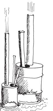 """poele - Poele à bois """"brule tout"""" Rocket11"""