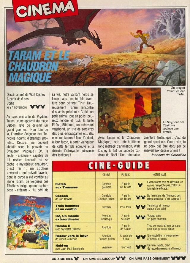 Taram et le Chaudron Magique (1986) Disney 86mick13