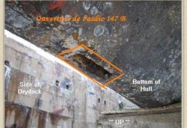 La position du dôme Asdic sur les corvettes de type fleur Sonar10