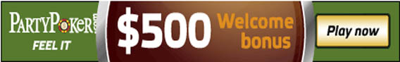 $500 sign up bonus from Party Poker Partyp10