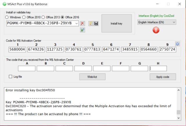 Microsoft Product Keys 2.5.0 - Tìm key và kích hoạt các sản phẩm của Microsoft Activa11