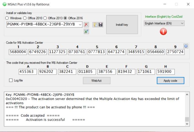 Microsoft Product Keys 2.5.0 - Tìm key và kích hoạt các sản phẩm của Microsoft Activa12