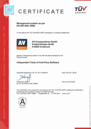 "Lịch sử của giải ""Sản phẩm của năm"" từ AV-Comparatives Av_com11"