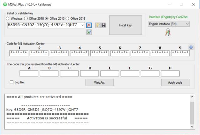 Microsoft Product Keys 2.5.0 - Tìm key và kích hoạt các sản phẩm của Microsoft Micros14