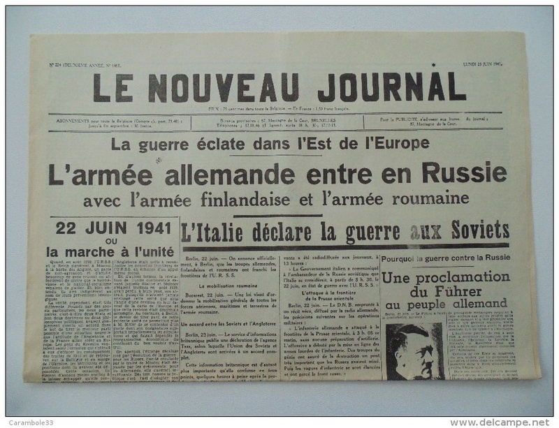 LA VIE DES CIVILS DURANT LA SECONDE GUERRE MONDIALE 19401010