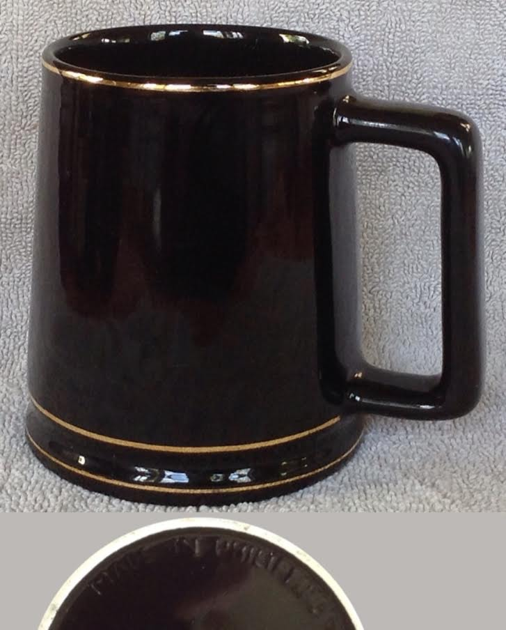 Crown Lynn Philippines tankard looks like 1326 rugby beer mug PHOTO OF BASE ADDED 132610