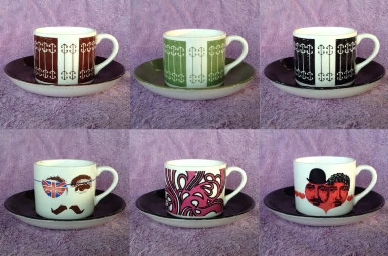 cans - Candy Stripe 3023 coffee cans on coloured 4017 saucers 30233010