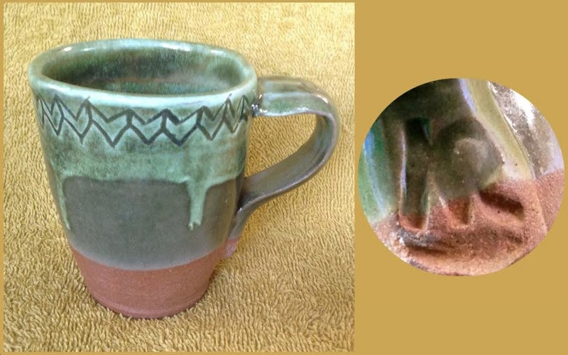 Some new mugs from ASP Big Clay Out with some potters' marks for GALLERY Askkr210