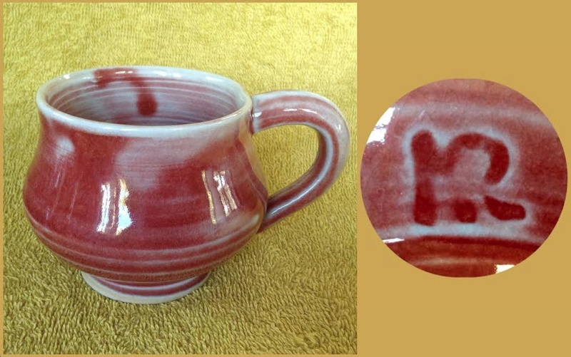 Some new mugs from ASP Big Clay Out with some potters' marks for GALLERY Aspkr110