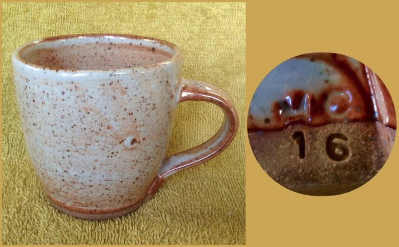 Some new mugs from ASP Big Clay Out with some potters' marks for GALLERY Aspmc10