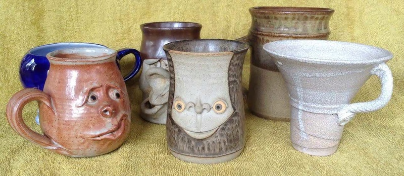 6 market mugs, including face mugs, and 2 others PLUS one more added Market10