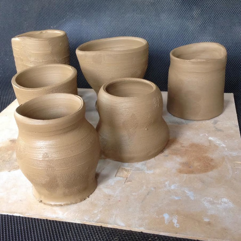 Casual Clay at the Quarry Arts Centre Whangarei: a recent bisque firing Mugs110