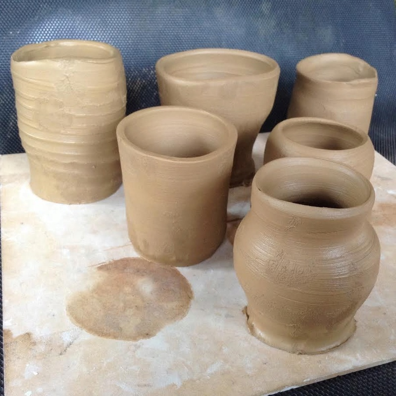 Casual Clay at the Quarry Arts Centre Whangarei: a recent bisque firing Mugs210