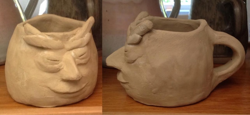 Casual Clay at the Quarry Arts Centre Whangarei: a recent bisque firing Mugyr10