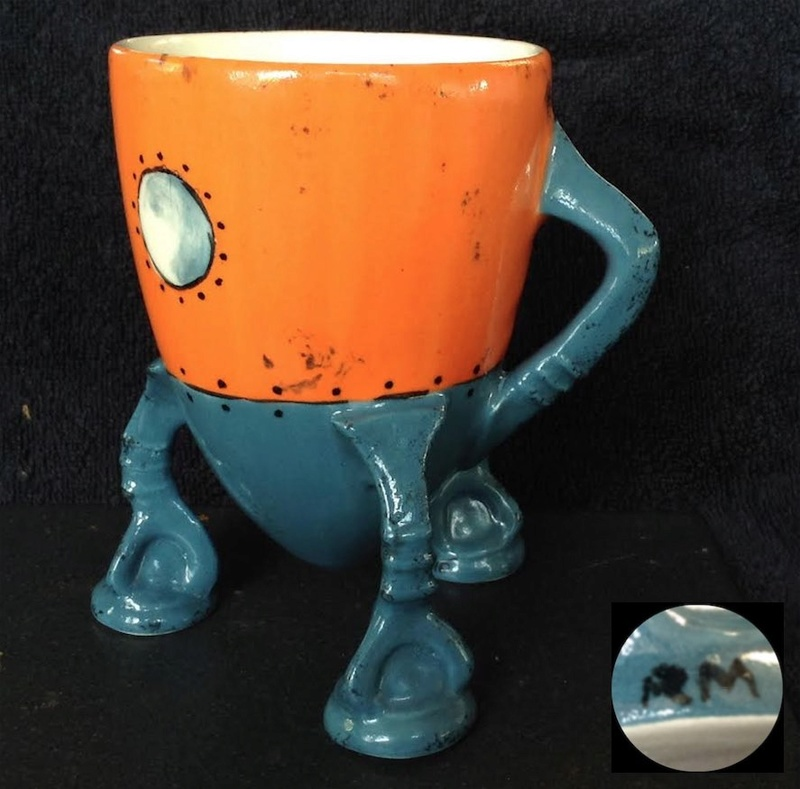"Romina Marinkovich - Fruitfire: ""Luna Mug-ule"", with potter's mark Romina10"