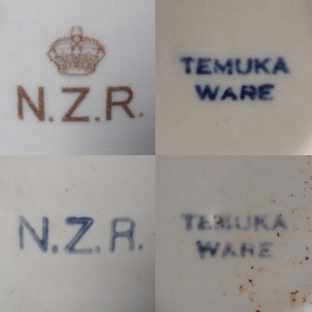 Old Temuka vitrified cups, including NZR railway cups: new shape(s) and backstamp(s) for the GALLERY Temuka13