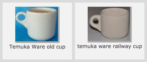 Old Temuka vitrified cups, including NZR railway cups: new shape(s) and backstamp(s) for the GALLERY Temuka16