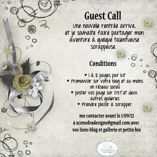 Guest Call Septembre/octobre/novembre **CLOS** Call0910