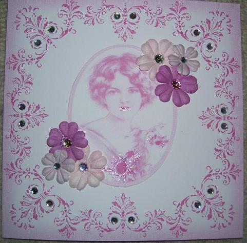 Geburtstagskarte in Rosa Ebay_510