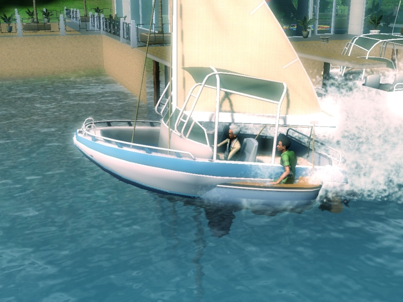 Sims who should be barred from boating. Eeeek! Scree110