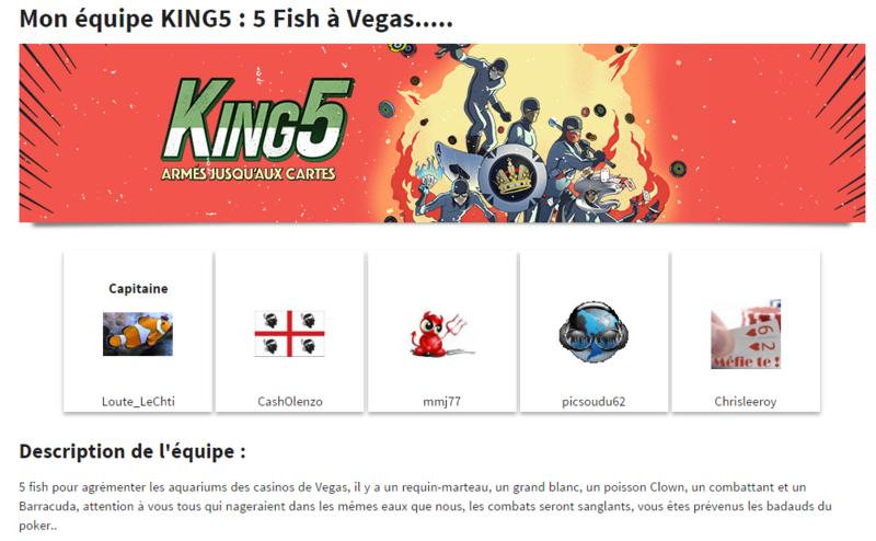 king 5 l équipe :  5 Fish à Végas  King510