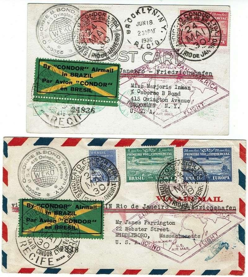 """nach - Südamerikafahrt 1930 (Rundfahrt-) Post nach Friedrichshafen"""" - Seite 7 57_p_210"""