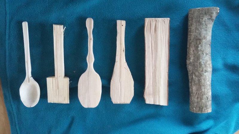 [Sculpture] Cuillère basique en bois 20161010