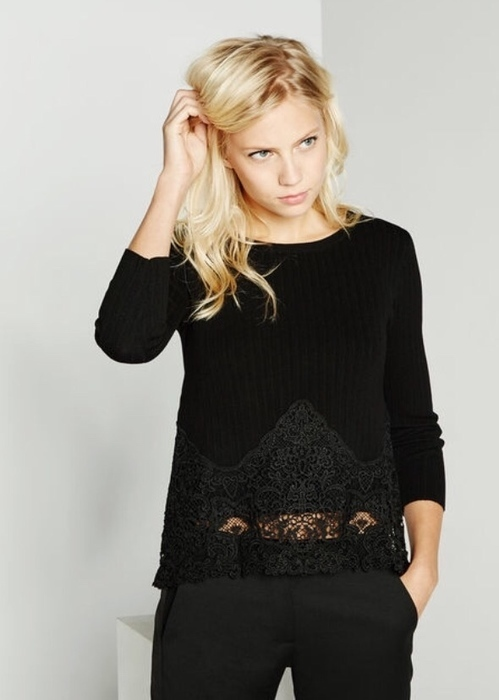 Vide dressing dentelle : Pull Claudie Pierlot, chemise TK 11513110