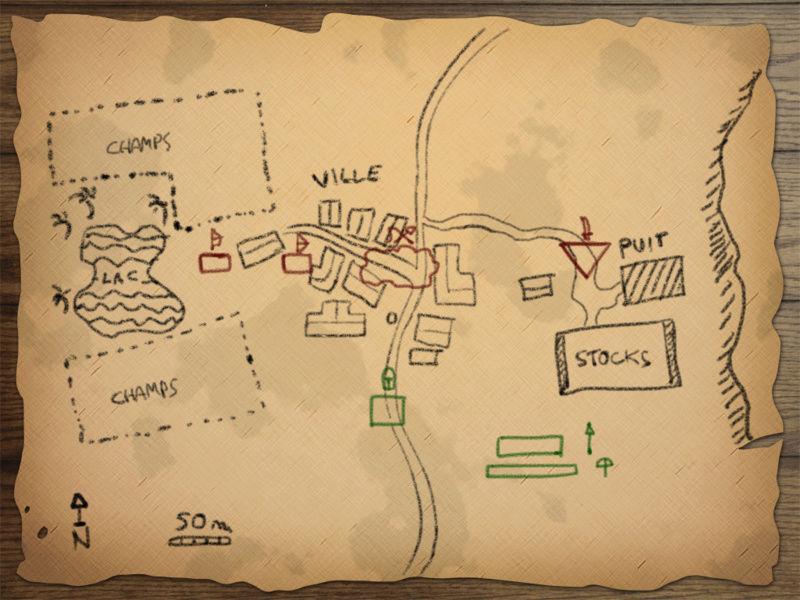 Escarmouche d'Aigues-Noires Map11