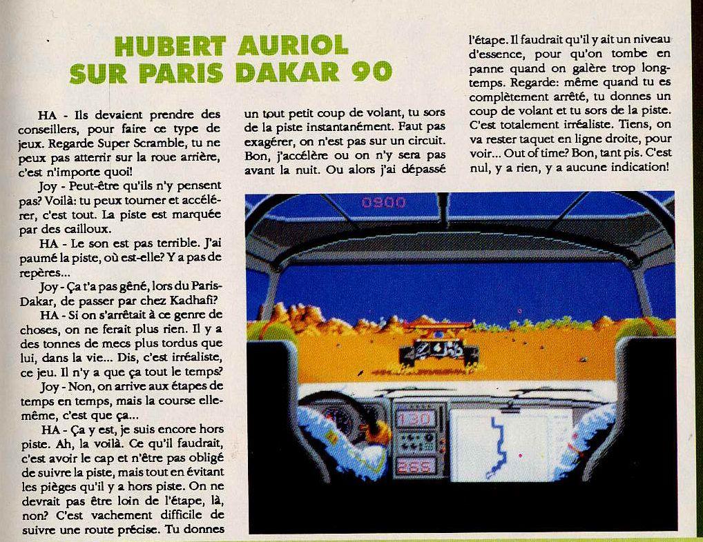Paris Dakar 90 (Test PC) Joysti11