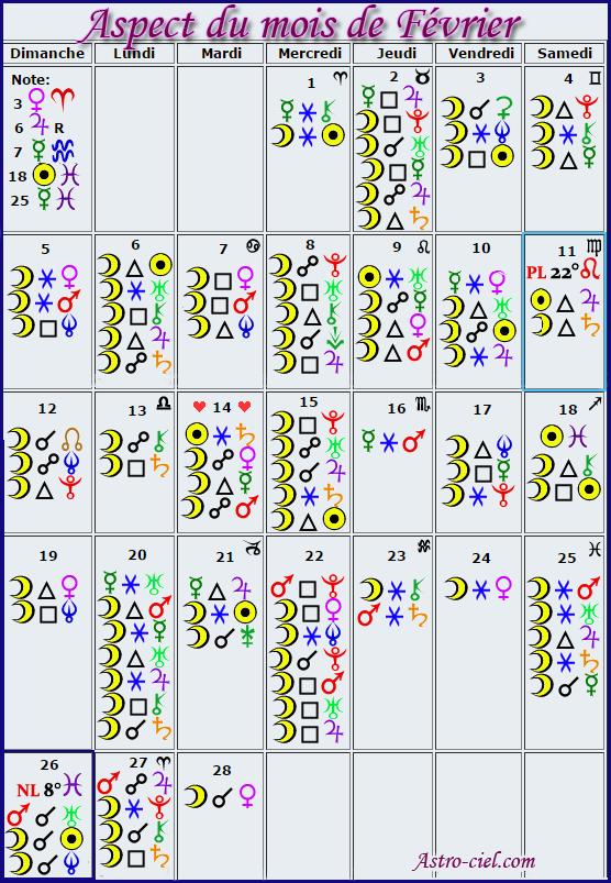 Aspects du mois de Février - Page 4 Calend16